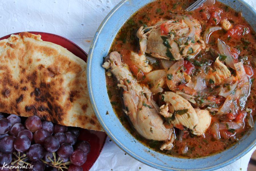معرفی بهترین غذاهای گرجستان - چخخبیلی