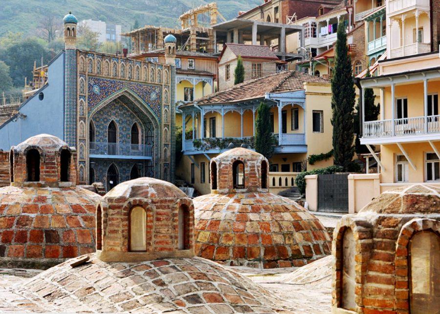 برترین جاذبه های تاریخی تفلیس - حمامهای گوگردی تفلیس
